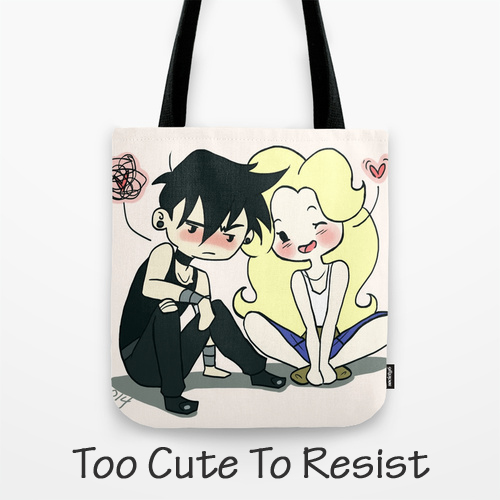 Tote Bag... Too Cute To Resist, Original Art by Megan / Barby Ink, BarbyInk.com